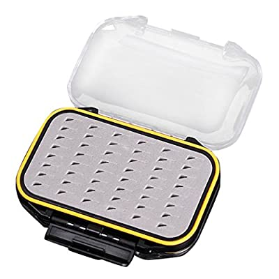 MagiDeal Double Side Waterproof Pocket Fly Fishing Box Foam Insert Tackle Tool Clear by MagiDeal