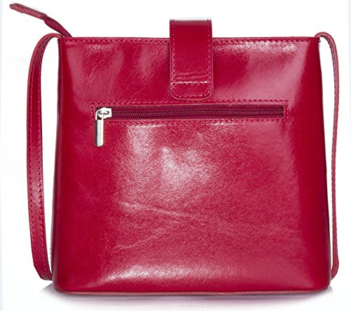 Big Handbag Shop ,  Damen Umhängetaschen Black - Red Trim (KL496)