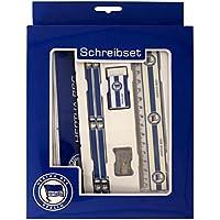 Hertha BSC- Berlin Schreibset mit Etui, Bleistiften, Lineal, Radierer und Spitzer