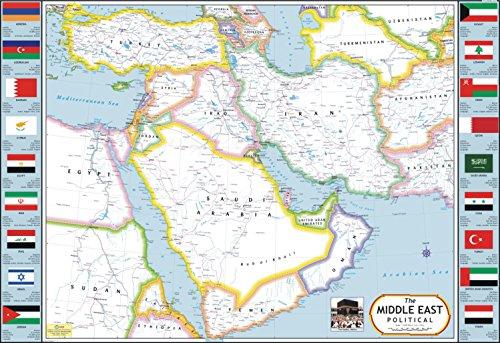 Middle East Map (Saudi Arabia, Yemen, Oman, Iran, Iraq, Syria, Turkey, Jordan)