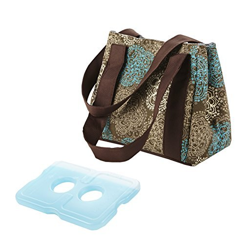fit-fresh-ladies-venice-insulated-lunch-bag-with-ice-pack-magnetic-closure-teal-floral-by-fit-fresh