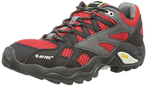 Hi-Tec V-lite Flash Force Low I, Chaussures de Marche nordique homme Rouge - Rot (100)