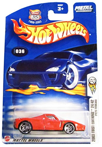 Hot Wheels 2003-036 First Editions Red Enzo Ferrari Highway 35 1:64 Scale by Hot Wheels