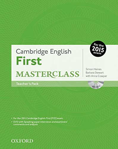 Cambridge English: First Masterclass: First 2015 Masterclass. Con Teacher's Book. Con DVD