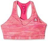 adidas Damen Sport-BH Techfit Heather, Shock Pink/Print/Matte Silver, L, AO1718