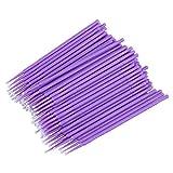 Healifty Applicatori per trucco occhi micro Applicatori tamponi di pennelli monouso per ciglia estensioni 100 pezzi (Viola)