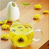 BesToop Chrysantheme Tee Chrysanthemen Tee Gelbe Chrysantheme Bud Kräutertee Chrysantheme Kräutertee, Chinesischen Tee 100% Duft Natürlicher gesunder Kräutertee, 1 Dose 50g