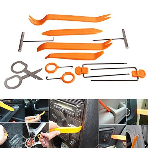 Preisvergleich Produktbild zanasta 12-Teiliges Auto Radio Demontage Werkzeug Set für Türverkleidung Armaturenbrett Hebel Removal Kit, Orange