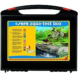 Sera 04002 aqua-test box (+Cu), Koffer, Wasser testen für Fortgeschrittene pH, GH, KH, NH3/NH4, NO2,NO3, PO4, Fe und Cu - schnell, genau, professionell