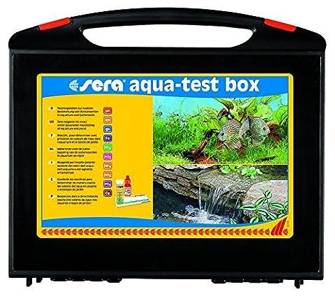 sera 04002 aqua-test box (+Cu), Koffer, Wasser testen für Fortgeschrittene pH, GH, KH, NH3/NH4, NO2,NO3, PO4, Fe und Cu - schnell, genau, (Combi Wasser)