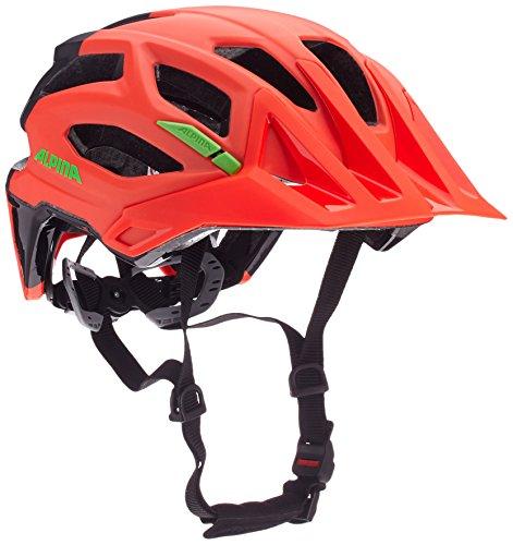 Alpina Garbanzo Fahrradhelm, Neon Red/Black, 52-57
