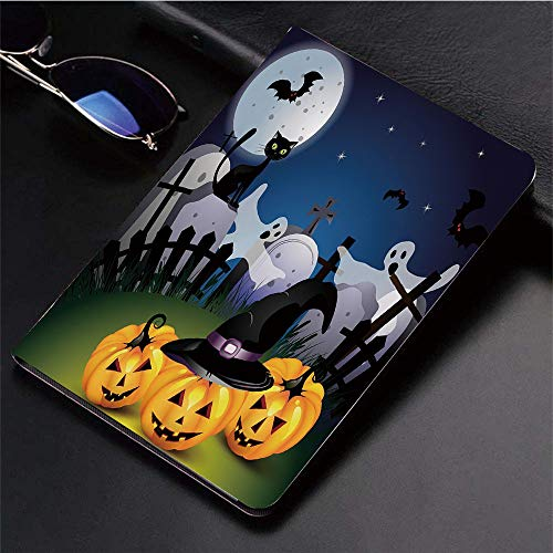 ad (9,7 Zoll, Modell 2018/2017, 6. / 5. Generation),Halloween, lustige Cartoon Design Kürbisse Hexen,Ultra Slim Cover Schutzhülle PU Lederhülle/mit Auto Sleep Wake Up Funktion ()