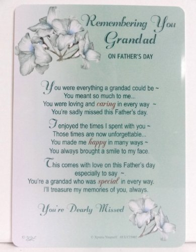 Grave Card - Remembering You Grandad on Father's Day Test