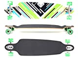 MAXOfit® Deluxe Longboard Charisma Green No. 64, Drop Through/Drop Down, 101 cm, 9 Schichten, ABEC11