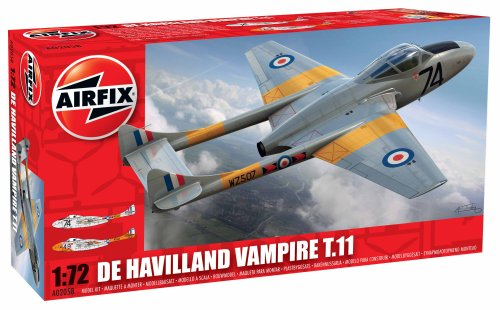 Airfix - DH Vampire, juguete de aeromodelismo (Hornby A02058)