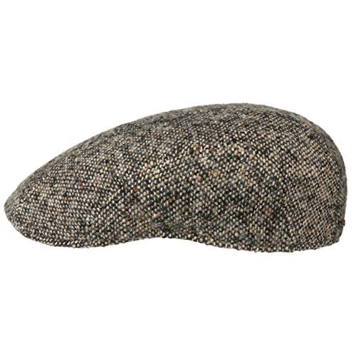 Stetson Casquette Madison Tweed Homme - Made in Germany pour l'hiver Type Gavroche avec Visiere, Doublure Automne-Hiver