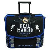 Cartable à roulettes REAL MADRID 41cm 2 compartiments