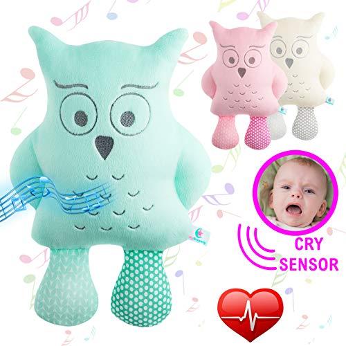 Hochwertiges Kuscheltier mit Cry Sensor, spielt 5 Melodien und 5 White Noise Geräusche als Einschlafhilfe für Babys und Kinder - Perfektes Geschenk - spielt, Sensor, Perfektes, Noise, MyDreamys, Melodien, Kuscheltier, Kinder, Jezzy, Hochwertiges, Geschenk, Geräusche, Eule, einschlafhilfe, Babys, baby einschlafhilfen
