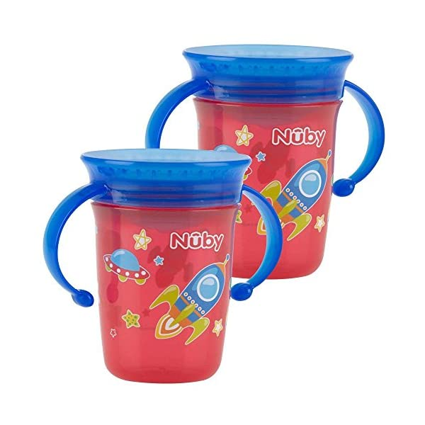 Nuby Sipeez 360 Degree Wonder Mini Cups, Assorted colors, Pack of 2 2