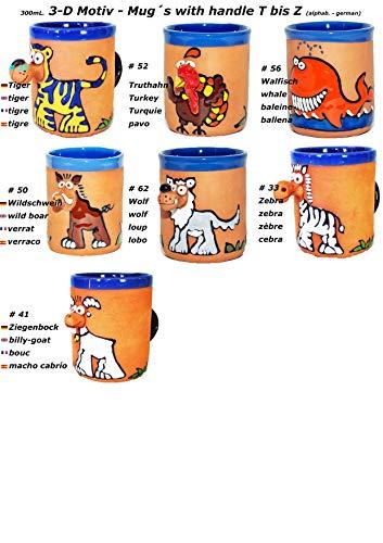 3-D Motiv - Tassen mit Henkel (T bis Z) -