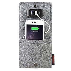 EasyAcc Supporto per Ricarica Cellulare Telefono Tasche per iPhone 7 6 6S HTC Samsung Galaxy A3 A5 S5 S6 S7 Wiko Digitalkameras etc.- Colore: Grigio