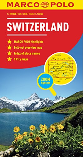 Switzerland Map (Marco Polo Maps) por Marco Polo Travel Publishing
