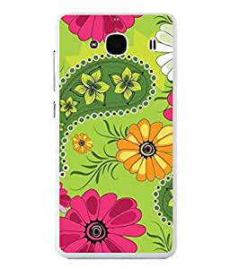 PrintVisa Designer Back Case Cover for Xiaomi Redmi 2 :: Xiaomi Redmi 2S :: Xiaomi Redmi 2 Prime (Decorative Effortless Silhouette Persian Paperback Repeating Beautiful Seamless)