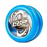 YoyoFactory Loop 360 Yo-Yo - Blanco (Genial para Principiantes, Juego Yoyo Moderno, Rodamiento de Bolas de Metal, Cuerda e Instrucciones Incluidas)