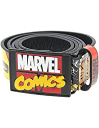 Marvel Comics Superhero Belt Mens Black/Multi Character Trouser Waistband