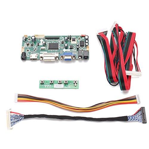 Hdmi-kühlkörper (ILS - DIY LCD-Controller Converter Brett Screen Kit für LM240WU2-SLA1 Eingangs-Schnittstelle HDMI + DVI + VGA Pixel 1920 * 1200)