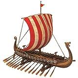 Design Toscano Sammlerstück Drekar, Das Wikingerlangschiff, Museumsreplika, 34,5 x 9 x 29 cm