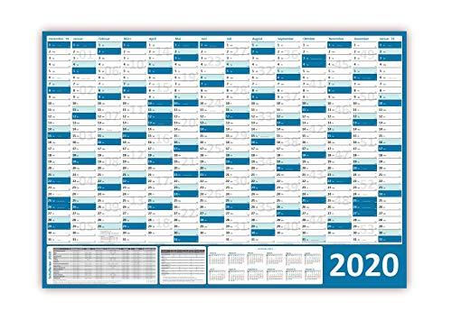 dplaner 2020 (blau) gerollt/DIN A0 Format (1189 x 841 mm) mit 14 Monaten, kompletter Jahresvorschau Folgejahr und Ferientermine/Feiertage aller Bundesländer ... ()