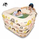 Los niños inflables piscina calor más grueso bañera para bebés, color amarillo