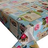 Wachstuch Breite & Länge wählbar - dcfix Engel Türkis 3854595 - ECKIG 80 x 200 bzw. 200x80 cm abwaschbare Tischdecke Wachstücher Gartentischdecke