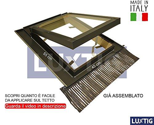 Lucernario per Tetto Finestra Skylight Legno Alluminio Vasistas Disponibile Tutte le Dimensioni Doppio Vetro Isolamento Permette anche Fisicamente di