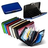 Porta documenti carte di credito rigido in alluminio portafoglio resistente all'acqua ALUMA WALLET