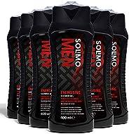 Amazon-Marke: Solimo Belebendes Duschgel für Männer-6er-Pack (6 Flaschen x 400 ml)