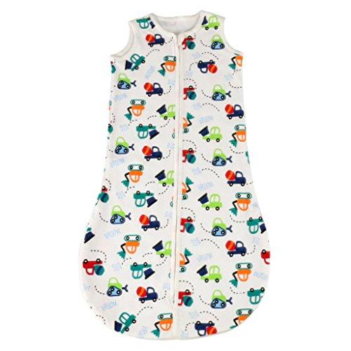 Pucksack Pucktuch SwaddleMe Baby Schlafsack Strampelsack Neugeborenes Baby-Schlafsack Sommerschlafsack Reisetaschen Fußabdruck Für 0-3Y - Bagger, one size