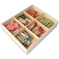 Artesanía LWR Mini de madera con pinzas 6estilos 48piezas en caja