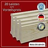 20 Stk/48 m Fußleisten Hamburger Profil Fichte 2400 x 18 x 95 mm - Vorteilspack 3,54€/m - 25% Rabatt