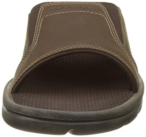 Rockport Get Your Kicks Strap Slide, Mules homme Marron (Dk Brown Lea)
