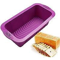 sfghouse rectangular silicona Cake Pan Mold – Molde antiadherente para hornear moldes latas 25,5