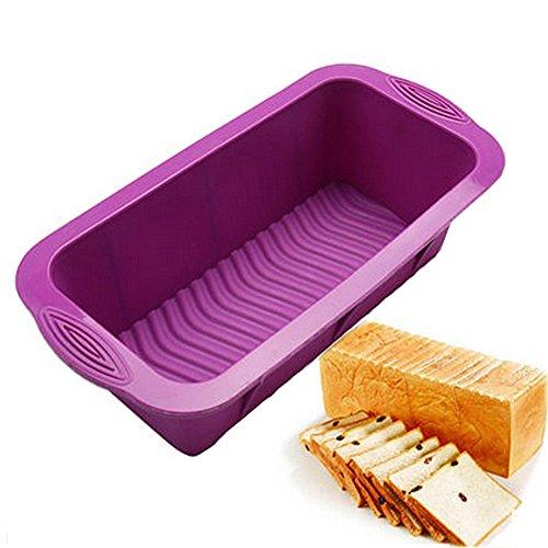 sfghouse rectangular silicona Cake Pan Mold–Molde antiadherente para hornear moldes latas 25,5x...