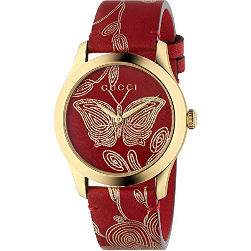 GUCCI G-TIMELESS RED HIBISCUS