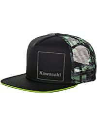 Kawasaki - Gorra de béisbol - para Hombre Negro Negro y Verde Talla única