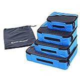 Songmics Kleidertaschen Packwürfel 4-teiliges Set blau GSN01B