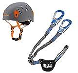 LACD Klettersteigset Pro Evo Blue + Kletter-Helm Camp Titan Grey 54-62cm