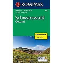 Schwarzwald Gesamt: Wanderkarten-Set in der Schutzhülle. GPS-genau. 1:50000 (KOMPASS-Wanderkarten, Band 888)