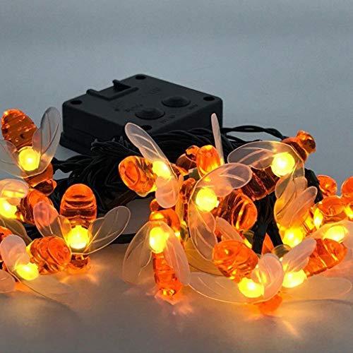 Luci Luce Stringa LED Luci Decorative Catene Luminose Solare LED Natale Feste Bee Luce Atmosfera Bianco Caldo Catena Luminosa Ideale per Decorazioni di Natale,Feste,Vacanze,Cortili,Pergole