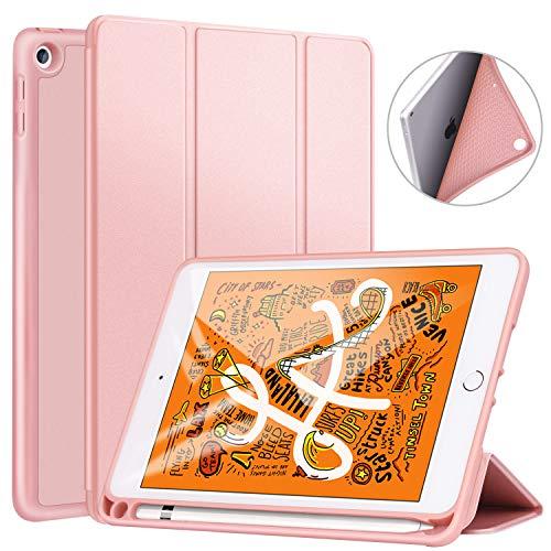 Ztotop Hülle für Neue iPad Mini 5th Generation 2019, Ultradünne Smart Cover Schutzhülle mit Stifthalter, leichte TPU Rückseite, Automatischem Schlaf/Aufwach, für 7.9 Zoll iPad Mini 5 2019 - Roségold (Ipad Generation Mini 5th)